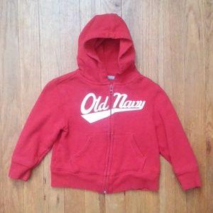 Old Navy 2T red zip up hoodie